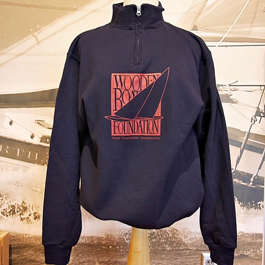 Wooden Boat Foundation Logo Quarter Zip Pullover Sweatshirt