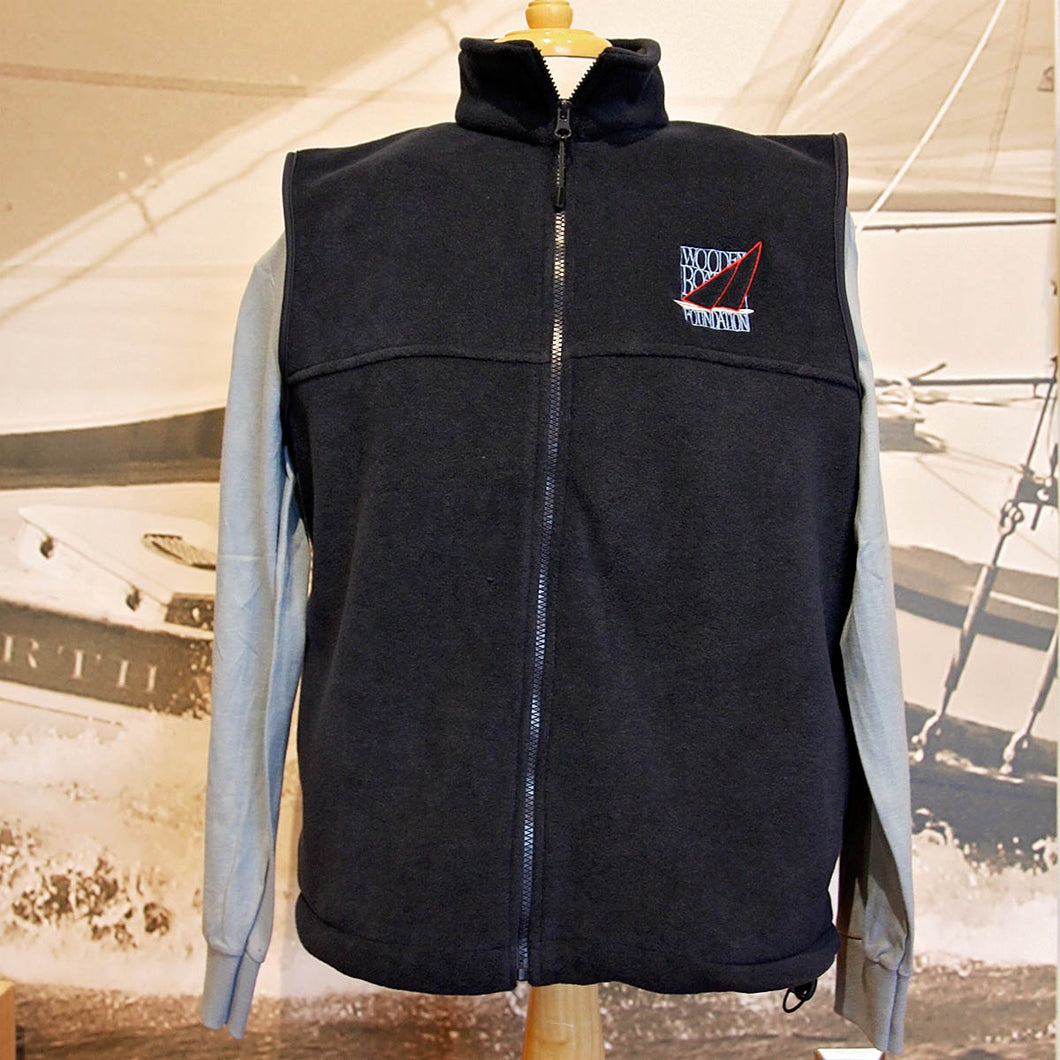 Wooden Boat Foundation Logo full zip Fleece Vest