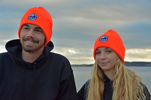 Race to Alaska Logo Knit Orange Hat
