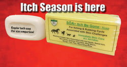 SOA Itch Be Gone 300g Bar Soap   (FREE POSTAGE  + Next Day Shipping)