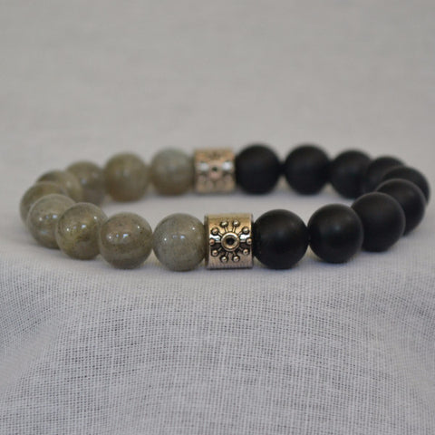 GHTM2 Labradorite and Matte Onyx