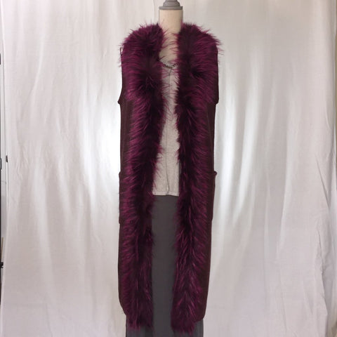 Felted faux fur Duster Vest