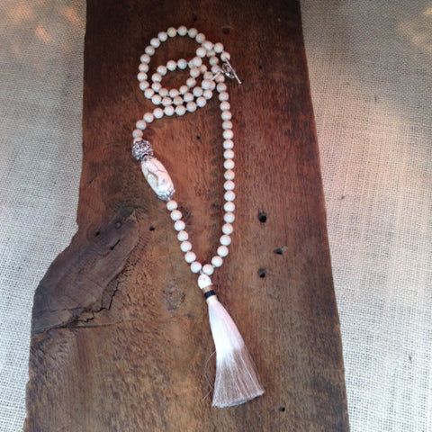 Bone Tassel Necklace