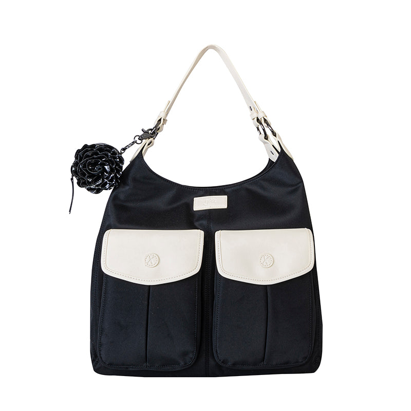 'Alice' Shoulder Bag Black and Cream - gr8x