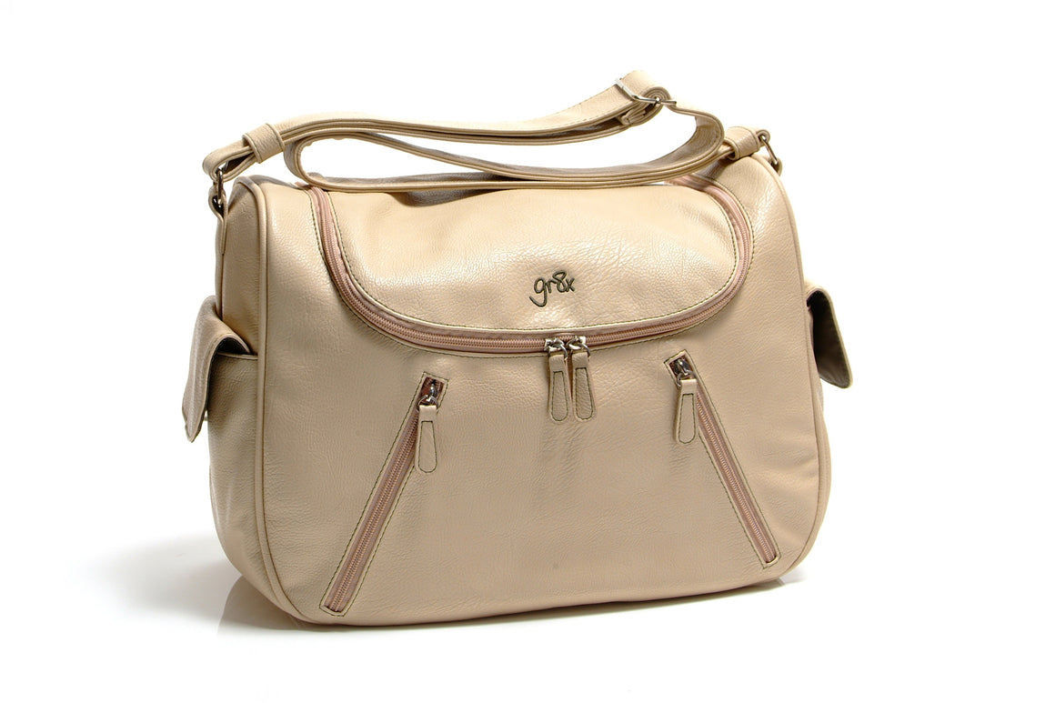 best quality affordable designer stylish leather nappy bag, diaper bag and baby bag