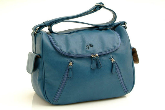 Sale on quality affordable designer stylish leather nappy bag, diaper bag and baby bag with easy access