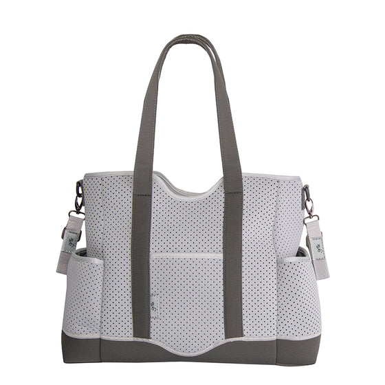 Lulu Neoprene Tote Two toned grey - gr8x