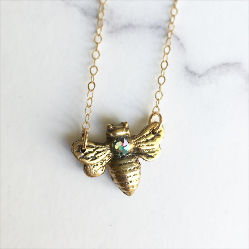 Honey Bee Necklace - Gold