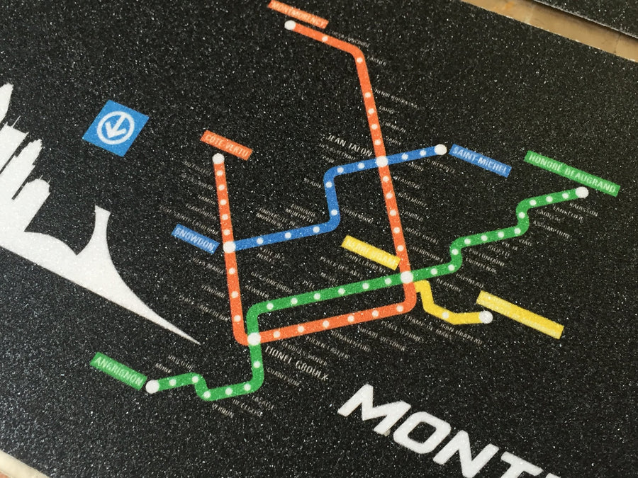 Trynyty Montreal Metro Map Griptape [6″ x 24″]