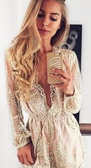 Girls Just Want to Have Fun glitter playsuit in gold
