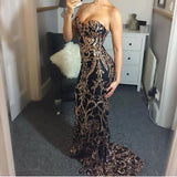 "SEQUIN MAXI EVENING GOWN - ""DRAMATIC"""