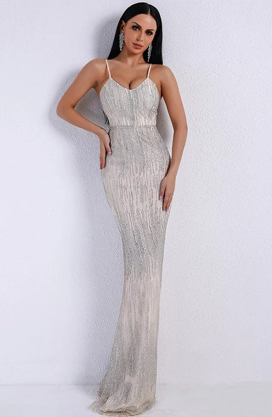 "SEQUIN MAXI EVENING DRESS - ""BELLAGIO"""