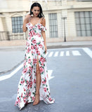 "FLOWY FLORAL MAXI DRESS - ""TIFFANY"", Dress  - Barbee Doll Boutique"