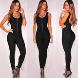"ZIP-UP BANDAGE JUMPSUIT - ""THE GRISBY"", Jumpsuits  - Barbee Doll Boutique"