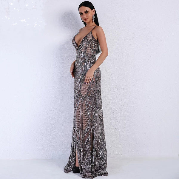 "SEQUIN MAXI EVENING DRESS - ""SPARKLING BEAUTY"""