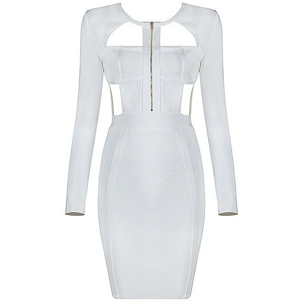 "MINI ZIP-UP BANDAGE DRESS - ""GODDESS TEMPTATION"", Bandage  - Barbee Doll Boutique"
