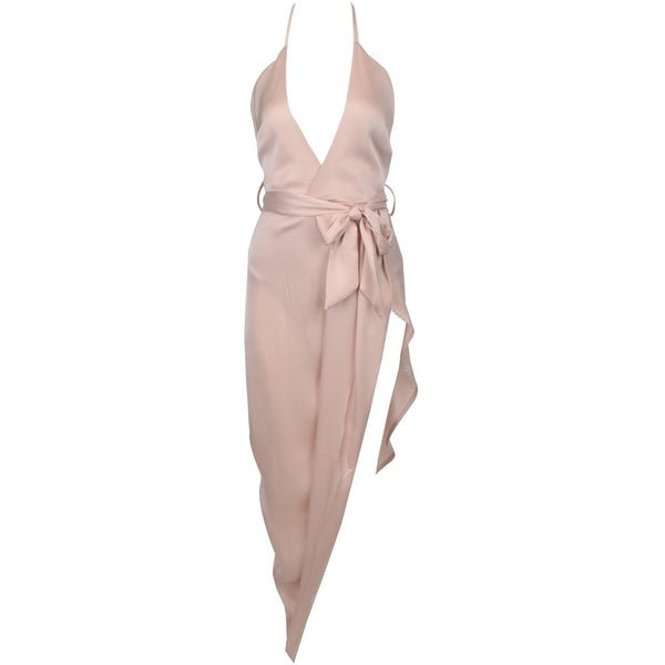"SATIN MIDI WRAP TIE DRESS - ""SEXY MISTRESS"", Dress  - Barbee Doll Boutique"
