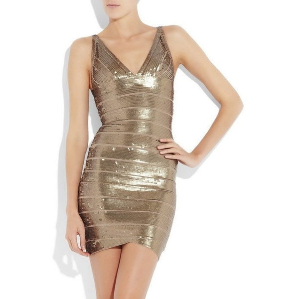 "MINI SEQUIN BANDAGE DRESS - ""SPARKLE IN SEQUINS"", Bandage  - Barbee Doll Boutique"