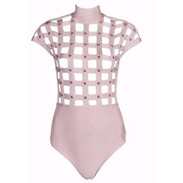 "CAGED MESH BANDAGE BODYSUIT - ""SYDNEY"", Bandage  - Barbee Doll Boutique"