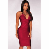 "MIDI BANDAGE DRESS - ""HOT IN MIAMI"", Bandage  - Barbee Doll Boutique"