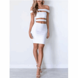 "OFF THE SHOULDER MIDI BANDAGE DRESS- ""HAYLEY"", Bandage  - Barbee Doll Boutique"
