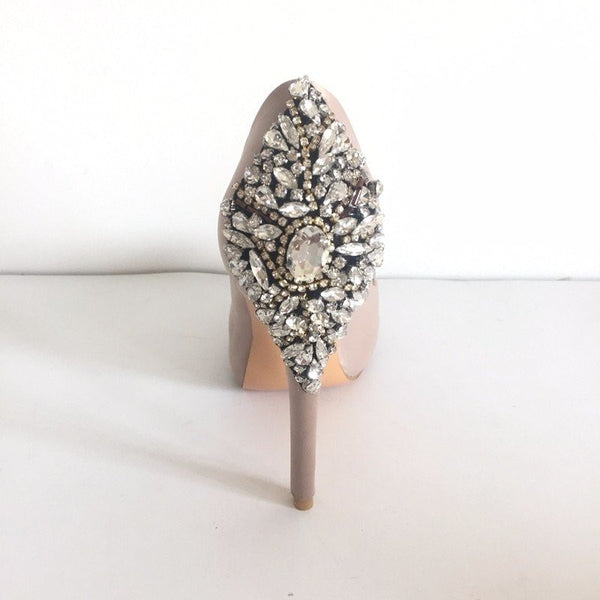 "RHINESTONE SATIN STILETTOS - ""BRILLIANT BABE"", Shoes  - Barbee Doll Boutique"