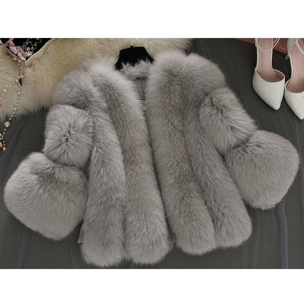 "FAUX FUR JACKET - ""LUXURY GIRL"", Jacket  - Barbee Doll Boutique"