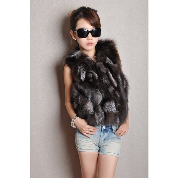 "FUR VEST - ""HER MAJESTY"", Vest  - Barbee Doll Boutique"