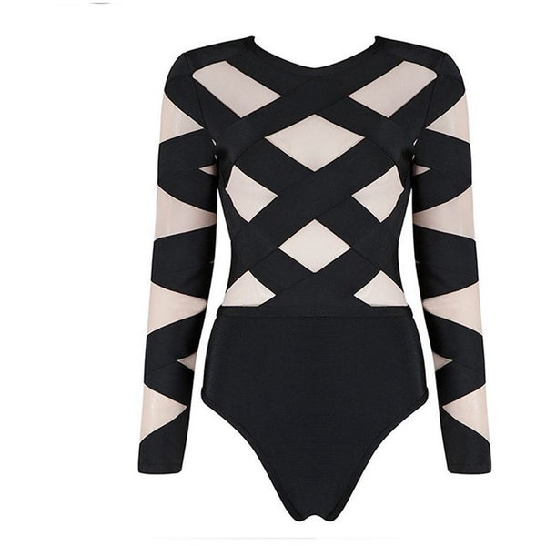 "BANDAGE BODYSUIT - ""BETTY"", Bodysuit  - Barbee Doll Boutique"