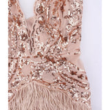 "TASSEL FRINGE MINI DRESS - ""MIKA"""