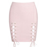 "LACE-UP MINI BANDAGE SKIRT - ""DESTRUCTION"""