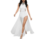 "2 PIECE SHEER MAXI BANDAGE EVENING DRESS - ""TRUTHFUL"", Bandage  - Barbee Doll Boutique"