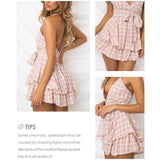 "SPAGHETTI STRAP FLOWY TIE WRAP PLAYSUIT - ""COURTNEY"""