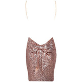 "BACKLESS SEQUIN BOW BACK MINI DRESS - ""SEQUIN FANTASY"", Dress  - Barbee Doll Boutique"