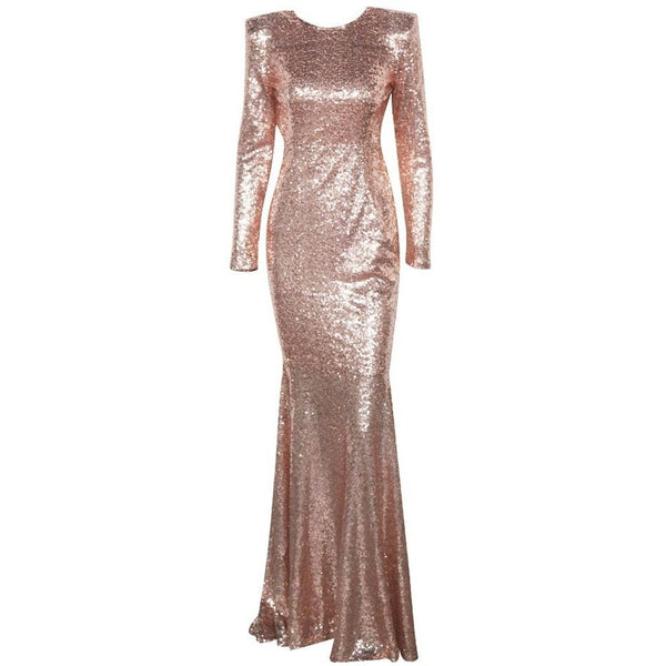 "SEQUIN MAXI EVENING DRESS - ""SHOW STOPPER"", Evening  - Barbee Doll Boutique"