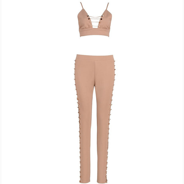 "2 PIECE BANDAGE JUMPSUIT - ""ROISIENNE"", Jumpsuits  - Barbee Doll Boutique"
