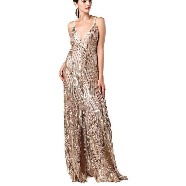 "SEQUIN MAXI EVENING DRESS - ""GRAMMY AWARDS"", Evening  - Barbee Doll Boutique"