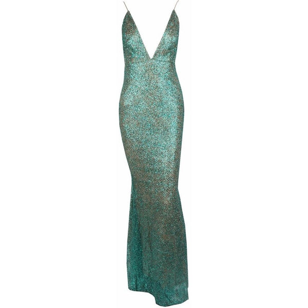 "GLITTER MAXI EVENING GOWN - ""JASMINE"", Evening  - Barbee Doll Boutique"
