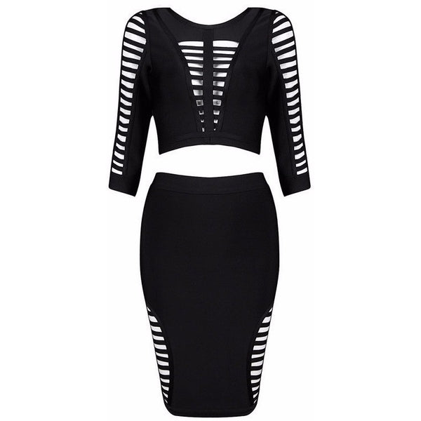 "2 PIECE MIDI BANDAGE DRESS - ""KEEP UP THE CLASS"", 2 Piece  - Barbee Doll Boutique"