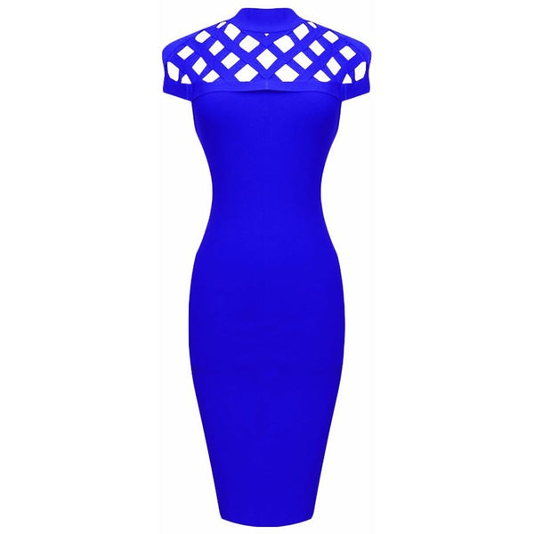"MESH MIDI BANDAGE DRESS - ""LOUISA"", Bandage  - Barbee Doll Boutique"
