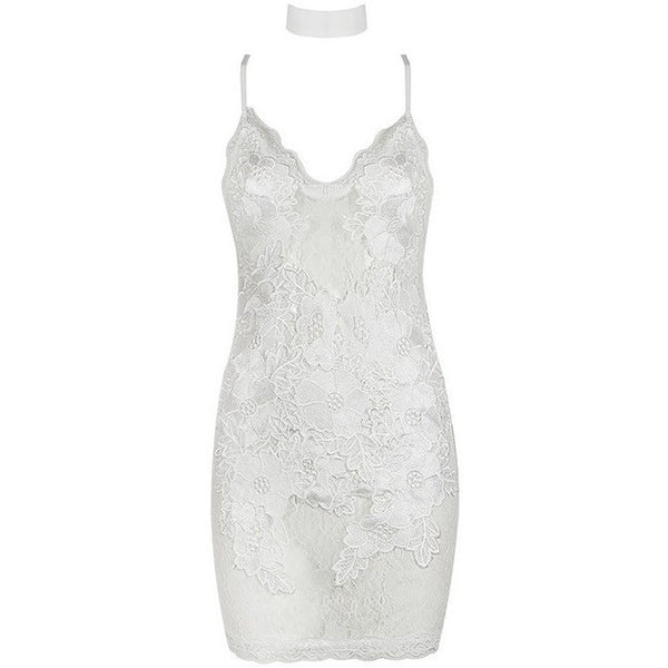 "LACE MINI DRESS - ""ICE QUEEN"", Dress  - Barbee Doll Boutique"
