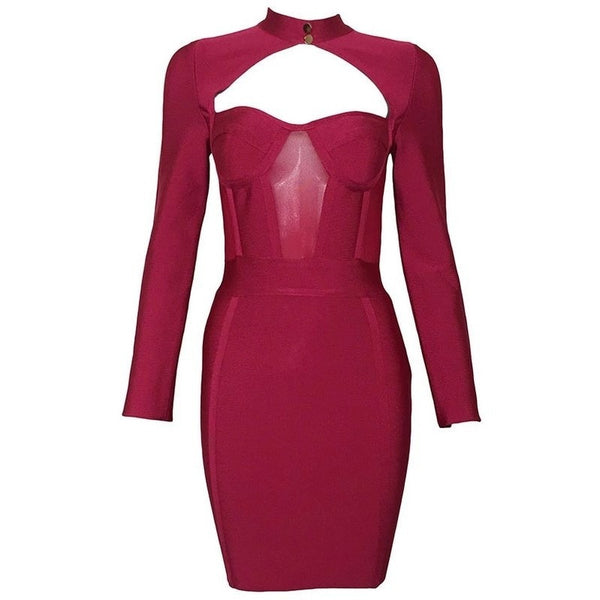 "MIDI BANDAGE DRESS - ""RUBYJANE"", Bandage  - Barbee Doll Boutique"