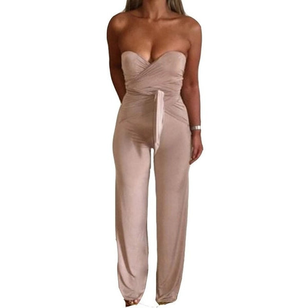 "STRAPLESS BODYCON TIE JUMPSUIT - ""OPHELIA"", Jumpsuits  - Barbee Doll Boutique"