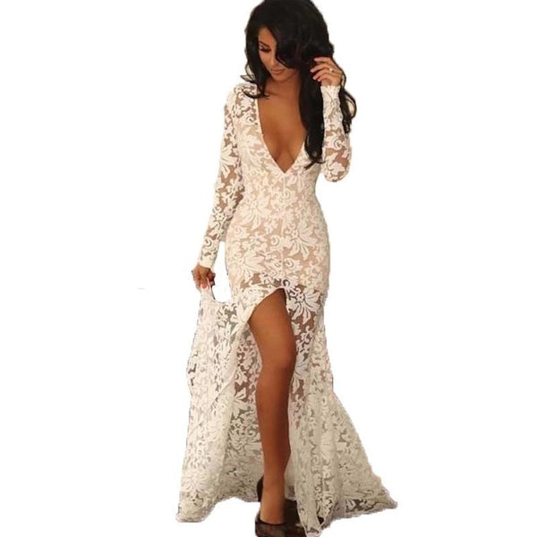 "LACE MAXI EVENING DRESS - ""BEAUTY OBSESSED"", Evening  - Barbee Doll Boutique"