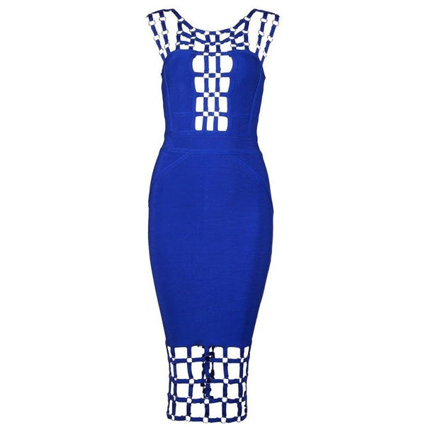 "CAGED MIDI BANDAGE DRESS - ""RICH GIRL II"", Bandage  - Barbee Doll Boutique"