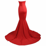 "STRAPLESS MAXI MERMAID EVENING GOWN - ""ROUGE"", Evening  - Barbee Doll Boutique"