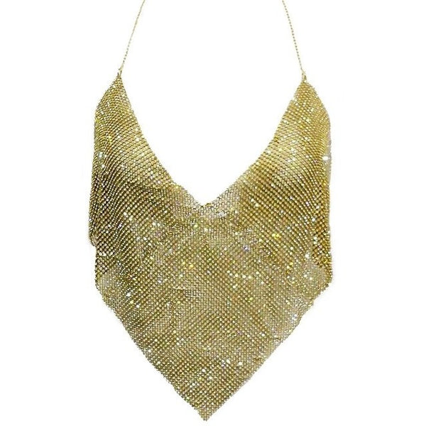 "METAL BACKLESS DIAMOND MESH FESTIVAL TOP - ""METALLISTA"", Tops  - Barbee Doll Boutique"