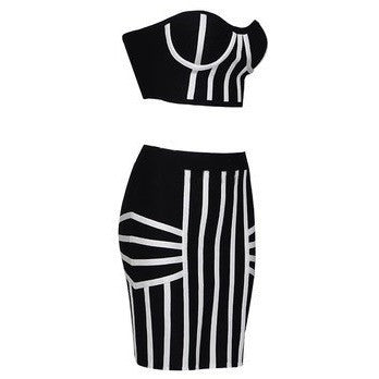 "2 PIECE MINI BANDAGE DRESS - ""PIECE OF ME"", 2 Piece  - Barbee Doll Boutique"