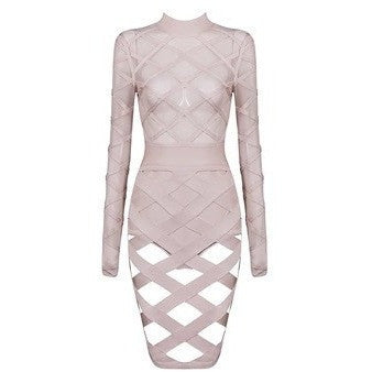 "MESH MIDI BANDAGE DRESS - ""CALISTA"", Bandage  - Barbee Doll Boutique"