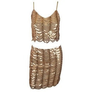 "2 PIECE SEQUIN MINI DRESS - ""SEQUIN SPARKLE"", Dress  - Barbee Doll Boutique"